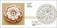 Resultado de imagen para flores de crochet patrones