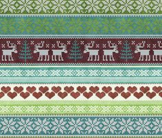Christmas sweater in green fabric by kociara on Spoonflower - custom fabric