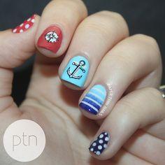 Nautical Nails by Paper Thin Nails, via Flickr