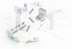Atelier Global Wins Competition to Design 'Book City' in Shenzhen,Circulation diagram