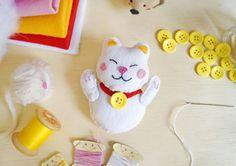 Gato da Sorte de Feltro (PAP com molde) | Flickr - Photo Sharing!