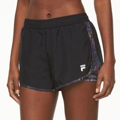 Women's FILA Sport® Eclipse Running Shorts ($15) ❤ liked on Polyvore featuring activewear, activewear shorts, oxford, fila sportswear, logo sportswear and fila
