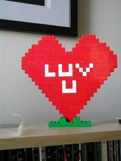 Lego Happy Valentine's Day Lego Valentines, Happy Valentines Day, Legos, Flag, Art, Art Background, Lego, Kunst, Science