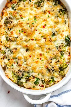 Chicken Casserole with Cream Cheese and Mozzarella Broccoli Chicken Casserole - A loaded and comforting chicken casserole your whole family will love!Broccoli Chicken Casserole - A loaded and comforting chicken casserole your whole family will love! Healthy Recipes, Low Carb Recipes, Diet Recipes, Cooking Recipes, Healthy Casserole Recipes, Dinner Casserole Recipes, Casserole Dishes, Recipies, Ketogenic Diet