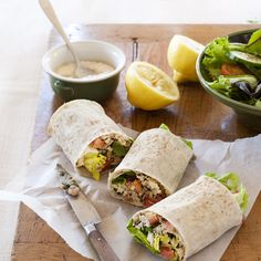 Sardine, tomato and olive wrap | Healthy Recipe | Weight Watchers AU