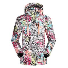 96.93$  Buy here - http://ali6es.shopchina.info/go.php?t=32807474187 - Ski Jacket Women 2017 Waterproof 10K Breathable Lady Snow Ski Coats Winter Warmth Thicken Outdoor Professional Snowboard Jackets  #magazineonlinebeautiful