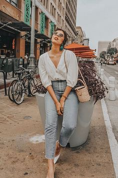 46 Summer Fashion Trends 2018 You Should Know - Trendfashioner Mode 2018 Trends, Fashion 2018 Trends, Spring Fashion Trends, Fall Trends, Look Fashion, Trendy Fashion, Fashion Outfits, Womens Fashion, Feminine Fashion
