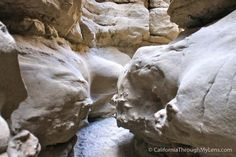 Slot Canyon  As one of the best desert slot canyons in Southern California, this short hike in Anza Borrego will take you into a canyon so narrow you have to turn sideways to get through at some points