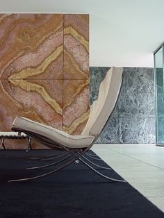 Ludwig Mies van der Rohe, the German Pavilion at the Barcelona International Exposition in The lounge chairs and ottoman seen here is originally designed for the pavilion, also Ludwig Mies Van Der Rohe, Architecture Details, Interior Architecture, Interior And Exterior, Architectural Styles, Le Corbusier, Mallet Stevens, Eileen Gray, Fashion Gone Rouge