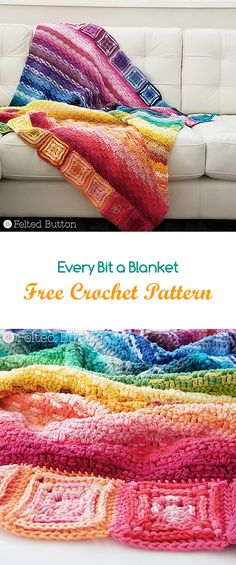 Every Bit a Blanket Free Crochet Pattern #crochet #crafts #homemade #homedecor #handmade