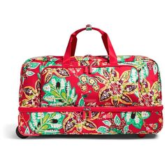 Vera Bradley Lighten Up Large Wheeled Duffel Bag ( 228) ❤ liked on Polyvore  featuring 3ee8bd7fe9