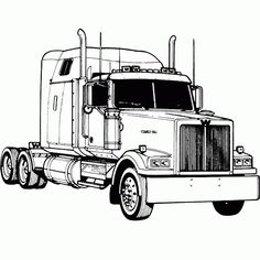 Semi+Truck+Coloring+Pages | truck,coloring,picture,road,kenworth, coloring