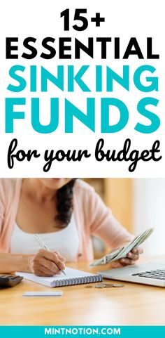 Sinking funds categories you need in your budget. Here's a list of top sinking funds that can help you save money without having to dip into your emergency fund or go into debt. Includes printable sinking funds tracker to help you track and organize your savings. Sinking Funds, Life On A Budget, Debt Free Living, Paying Off Student Loans, Down Payment, Create A Budget, Frugal Living Tips, Love Your Life, Saving Money