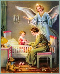 Guardian Angel, at home: mother + kid / Schutzengel zu Hause: Mutter + Kind Guardian Angel Pictures, My Guardian Angel, Gardian Angel, Angel Stories, Entertaining Angels, Angel Prayers, I Believe In Angels, Hermann Hesse, Angels Among Us