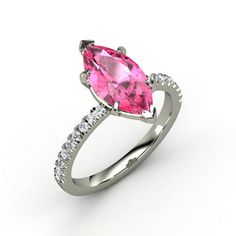 CARA RING MARQUISE PINK SAPPHIRE 14K