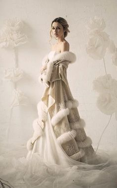 Winter bride. #weddings
