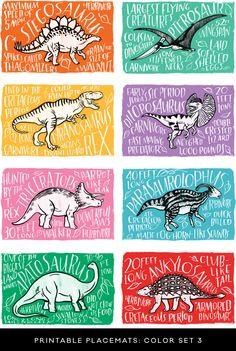 Set divertido y coloreable de dibujos de dinosaurios #dibujos #dinosaurios