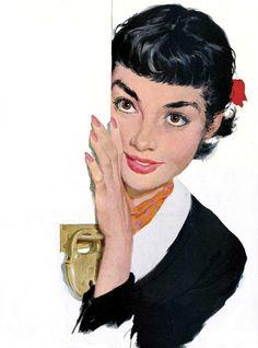 Audrey Hepburn by Joe Bowler