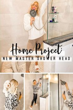 Home Project: New Master Shower Head - Blush & Camo  home renovation | master bathroom renovation | how to renovate your master bathroom |