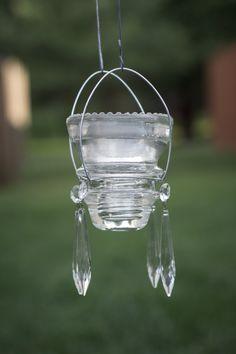 Glass Insulator Lantern  with Solar Light by RRilluminatedDesigns, $30.00