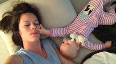 Exhausted Mom Documents the Adorable Inconvenience of Co-Sleeping With a Baby