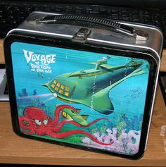 Vintage Voyage to The Bottom of The Sea Metal Lunchbox 1967 Aladdin Silver Sides | eBay