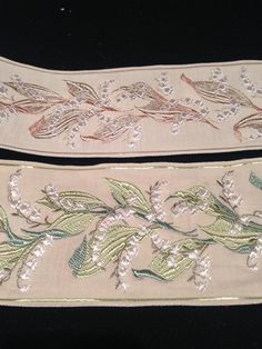 Vintage French Traditional Lily of the Valley Ribbon