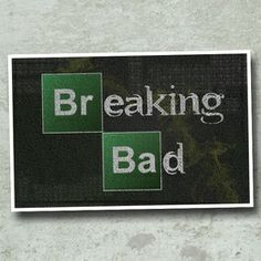 Breaking Bad Typography Art on the redditgifts Marketplace
