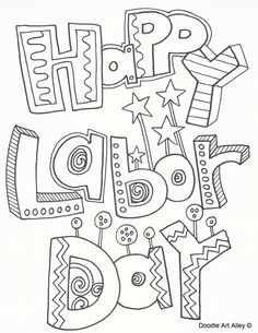 Labor Day coloring pages from Doodle Art Alley. Print and Enjoy!
