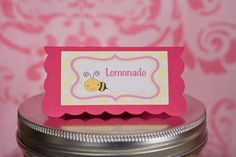 Bumble Bee Food Tents Baby Shower - Hot Pink & Yellow