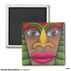 Imanes Decorativos 2 Inch Square Magnet #imanes #magnets