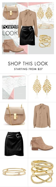"""power look"" by cecilvenekamp ❤ liked on Polyvore featuring Wall Pops!, Hueb, Chloé, L'Agence, Sans Souci, Sole Society, David Yurman and Lana"