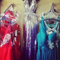 Ombré silver to blue, blow them away on the field for homecoming!!! Shopamorformals.com.  New Hot dresses in for homecoming!!!!! 580-355-8855