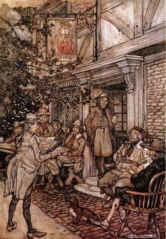 Arthur Rackham (Rip Van Winkle by Washington Irving) Arthur Rackham, Rip Van Winkle, Classic Fairy Tales, Art Nouveau, Vintage Fairies, Fairytale Art, Children's Book Illustration, Book Illustrations, Gravure