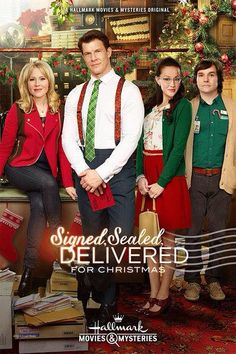 "Signed, Sealed, Delivered For Christmas SIGNED, SEALED, DELIVERED FOR CHRISTMAS - The inspiring postal detectives who won over audiences earlier this year are back to join the Hallmark Movies & Mysteries' beloved MOST WONDERFUL MOVIES OF CHRISTMAS in ""Signed, Sealed, Delivered For Christmas"" a Hallmark Movies & Mysteries Original World Premiere Sunday, November 23 at 9/8C."