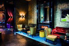 The College Hotel Amsterdam. Modern Restaurant Design, Restaurant Lounge, Lounge Design, Cafe Design, Best Hotels In Amsterdam, Hotel Lobby Design, Unusual Hotels, Interior Design Colleges, Dining