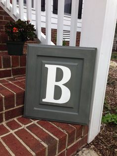 Monogrammed Repurposed Cabinet Door Wooden by PorchSwingPrimitives, $65.00