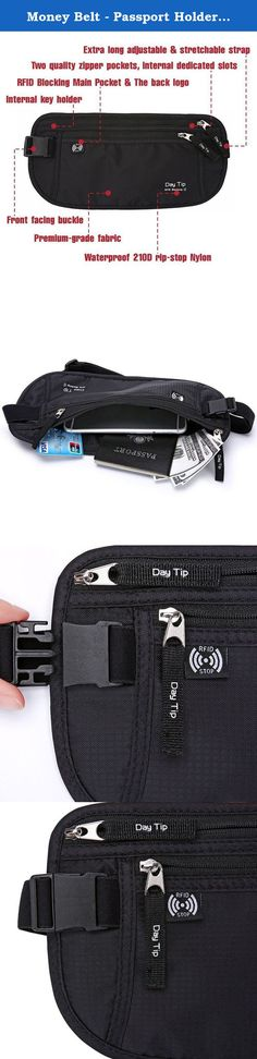 """Money Belt - Passport Holder Secure Hidden Travel Wallet with RFID Blocking, Undercover Fanny Pack (Black). ═════════════════════ DAY TIP MONEY BELT BEST TRAVEL ACCESSORIES ═════════════════════ ▶SPECIFICATION Weight: 3.0 ounces Product dimensions: 11.2"""" by 5.5"""" by 0.1"""" Color: Black ▶SECURE PROTECTION Nowadays, security is more and more important in all aspects. Fortunately, there is a simple solution. The RFID Blocking Function, blocking all RFID scanners and readers, Stop Electronic…"""