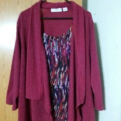 Plus size cardigan top Blouse and top are one piece size 2x but runs a little big. stagharbor Tops Blouses