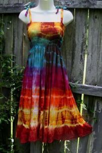 Rainbow Ripple Tie Dye Dress
