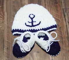 Crochet set Baby Boy set Neavy blue baby set by LoveCareHandmade