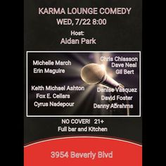 #Tonight come get your #Laugh on @karmaloungela #Comedy #Hollywood #comedians