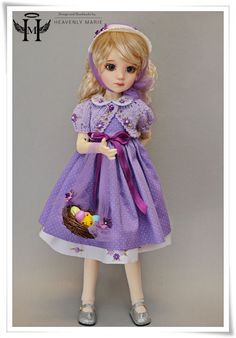 "[Luna, Missy] Easter Purple Set Ensemble  | 18"" Kaye Wiggs, Liz Frost by HM #HeavenlyMarie"