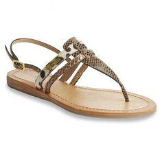 adb8f8020070 Baraka sandale entre doigt cuir imprimé 1