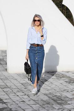 35 Looks Con Pollera De Blue Jean Que Vas A Querer Usar Ahora | Cut & Paste – Blog de Moda