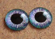 Custom OOAK Blythe doll hand painted pair of eye chips,Neo Blythe custom (no.113)