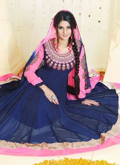Flaring Look Kumud Viscose Anarkali Suit