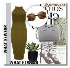 """""""Emblem Eyewear !"""" by dianagrigoryan ❤ liked on Polyvore featuring ROXXLYN, Givenchy and Gianvito Rossi"""