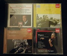 Karajan 4 CDS Beethoven, Bruckner, Dvorak, Wagner. EMI Herbert Von Karajan, Album Cover, Ebay, Books, Singer, Musik, Libros, Book, Book Illustrations