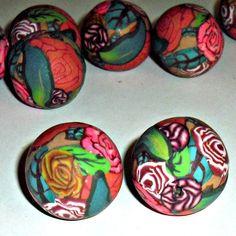 Rose Millifiori Beads